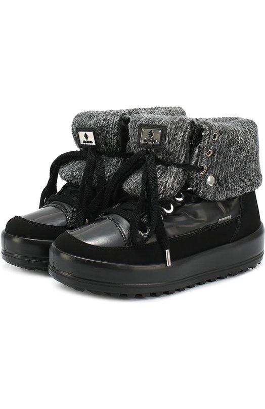 Комбинированные ботинки на шнуровке Jog Dog 30207R-R/BLACK
