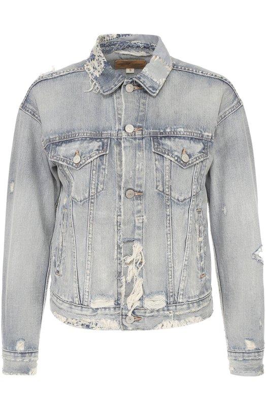 Укороченная джинсовая куртка с потертостями Denim&Supply by Ralph Lauren W31/0121E/037DS