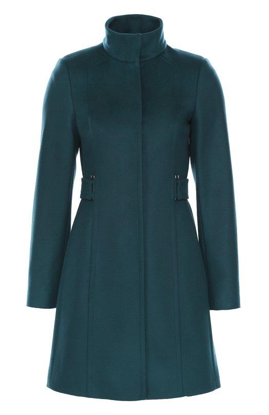 Приталенное пальто с воротником-стойкой HUGO 50319460