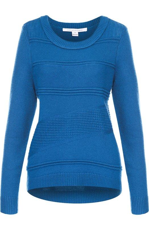 Пуловер фактурной вязки с круглым вырезом Diane Von Furstenberg S924401G16