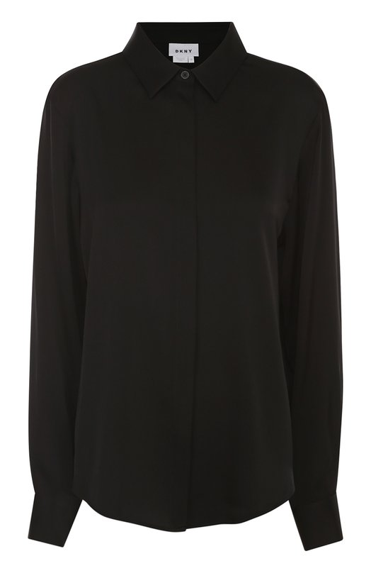 Шелковая блуза прямого кроя DKNY P3622512W