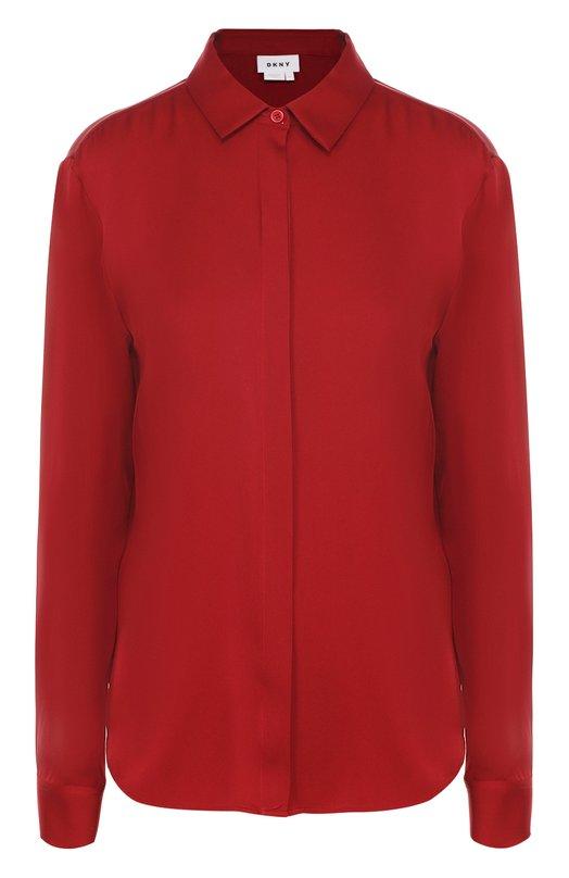 Шелковая блуза прямого кроя DKNY P3622512WA