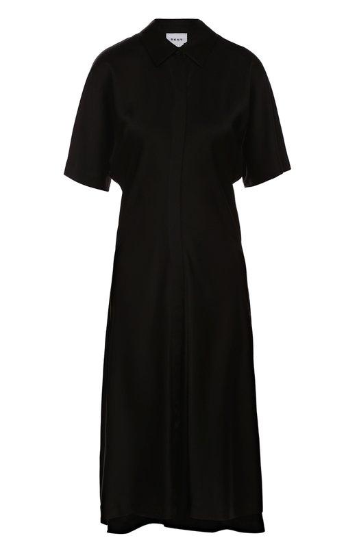 Приталенное платье-рубашка с укороченным рукавом DKNY P3672133SA