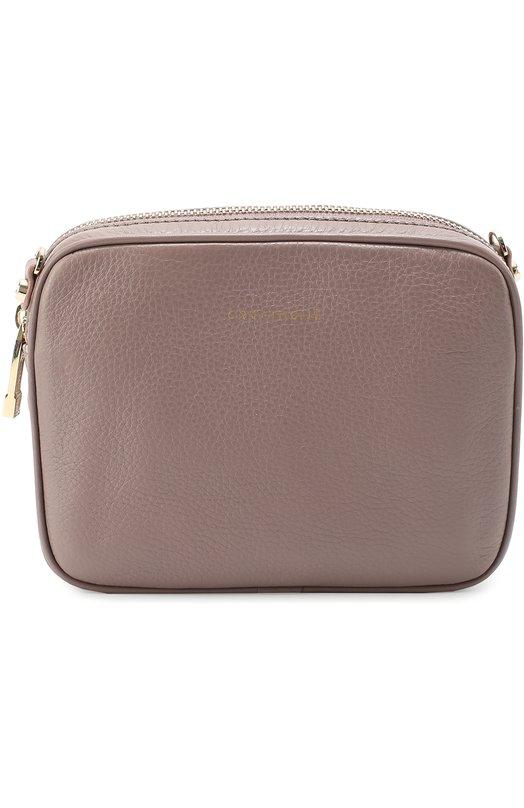 Сумка из зернистой кожи на молнии CoccinelleЖенские сумки<br><br><br>Пол: Женский<br>Возраст: Взрослый<br>Размер производителя vendor: NS<br>Материал: Кожа натуральная: 100%;<br>Цвет: Фиолетовый
