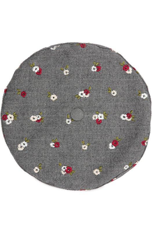 Берет из хлопка с вышивкой Dolce & Gabbana 0131/LB2H43/FGMDR