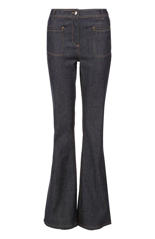 Расклешенные джинсы с контрастной прострочкой Carven 2011P32