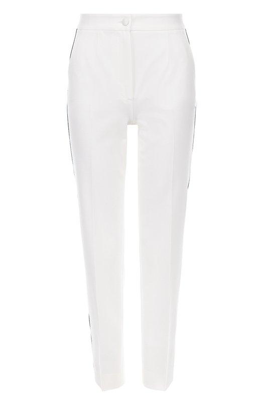 Укороченные зауженные брюки с контрастными лампасами Dolce & Gabbana 0102/FTAM0T/FUCCS