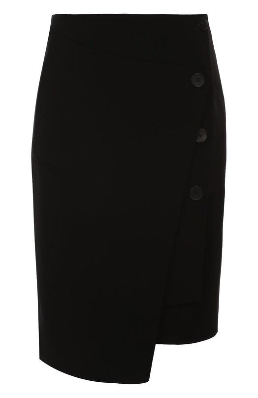 Облегающая мини-юбка асимметричного кроя DKNY P3610067IA