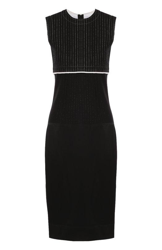 Приталенное платье без рукавов с круглым вырезом DKNY P3670617TA