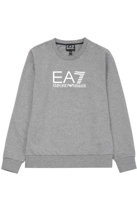 Хлопковая толстовка с логотипом бренда Ea 7 6XBMC6/BJ05Z