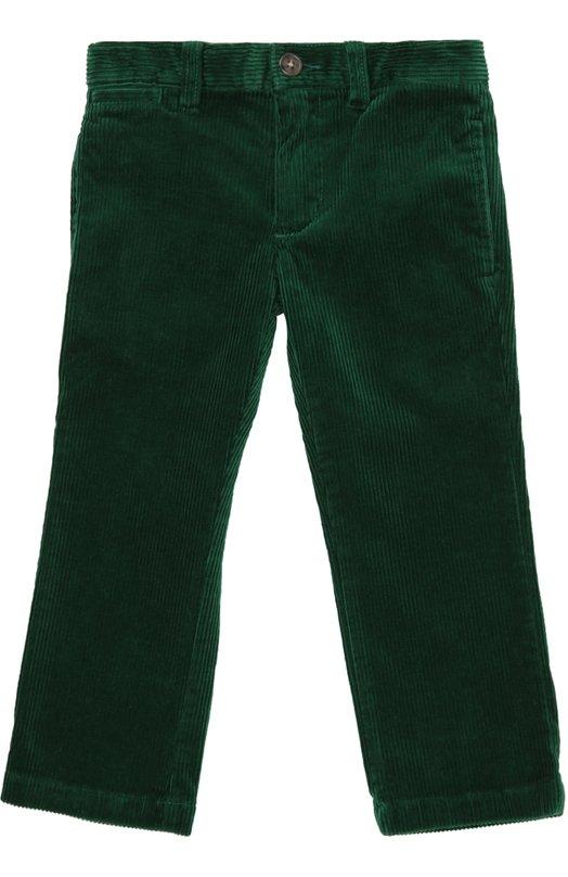 Брюки из вельвета прямого кроя Polo Ralph LaurenБрюки<br><br><br>Размер Years: 2<br>Пол: Мужской<br>Возраст: Детский<br>Размер производителя vendor: 92-98cm<br>Материал: Хлопок: 99%; Эластан: 1%;<br>Цвет: Зеленый