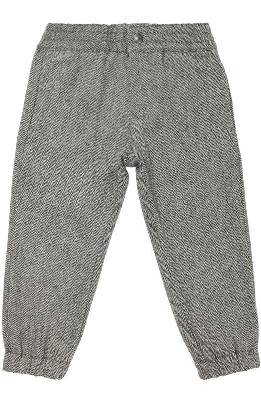 Шерстяные брюки с поясом и манжетами на резинке Polo Ralph LaurenБрюки<br><br><br>Размер Years: 2<br>Пол: Мужской<br>Возраст: Детский<br>Размер производителя vendor: 92-98cm<br>Материал: Шерсть: 55%; Полиэстер: 25%; Вискоза: 20%;<br>Цвет: Серый