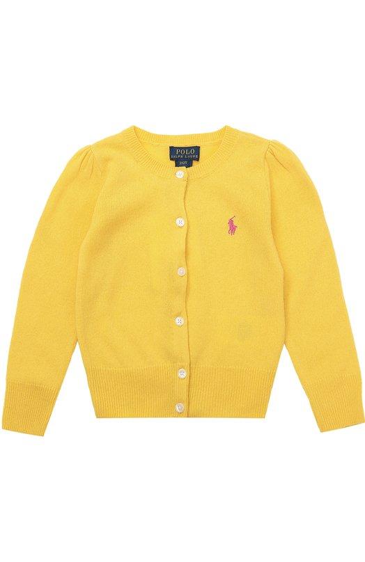 Шерстяной кардиган с вышитым логотипом бренда Polo Ralph Lauren S40/103F6/103F6