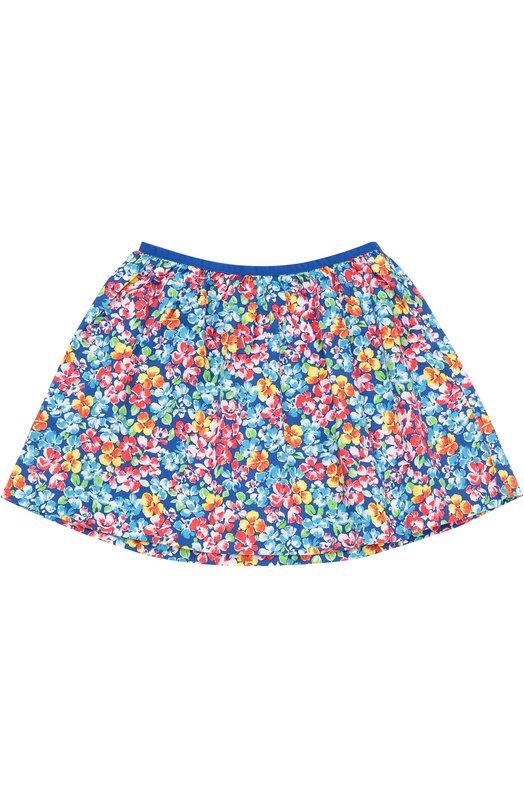 Хлопковая юбка с цветочным принтом Polo Ralph Lauren G21/XZ1KT/XY1KT