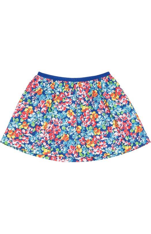 Хлопковая юбка с цветочным принтом Polo Ralph Lauren H21/XZ1KT/XY1KT