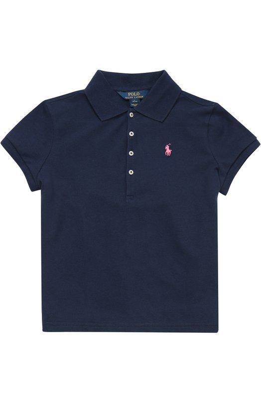 Хлопковое поло с вышитым логотипом бренда Polo Ralph Lauren G10/XZ1T1/XY1T1