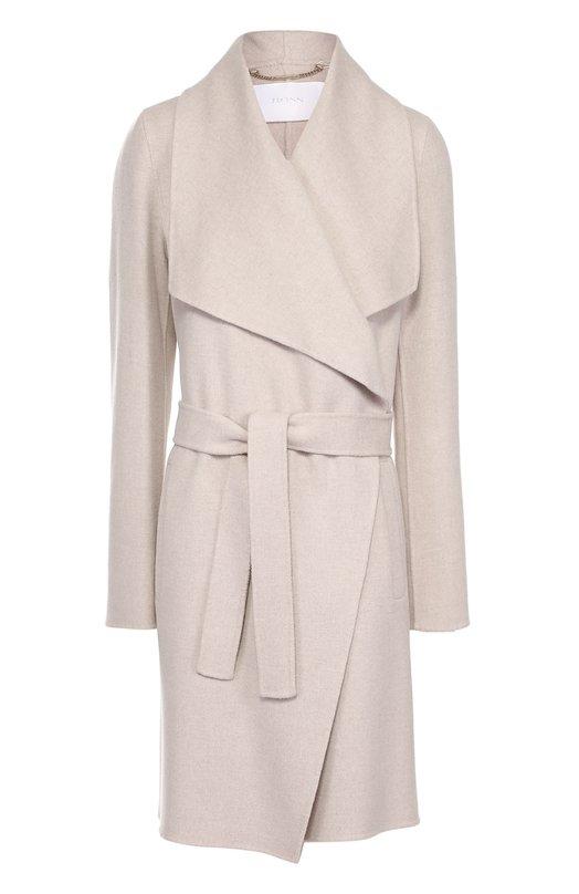 Пальто прямого кроя с широкими лацканами и поясом HUGO 50328473
