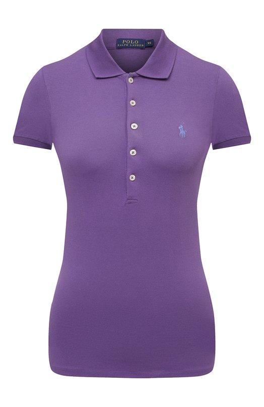 Поло с вышитым логотипом бренда Polo Ralph LaurenПоло<br><br><br>Российский размер RU: 40<br>Пол: Женский<br>Возраст: Взрослый<br>Размер производителя vendor: XS<br>Материал: Хлопок: 97%; Эластан: 3%;<br>Цвет: Фиолетовый