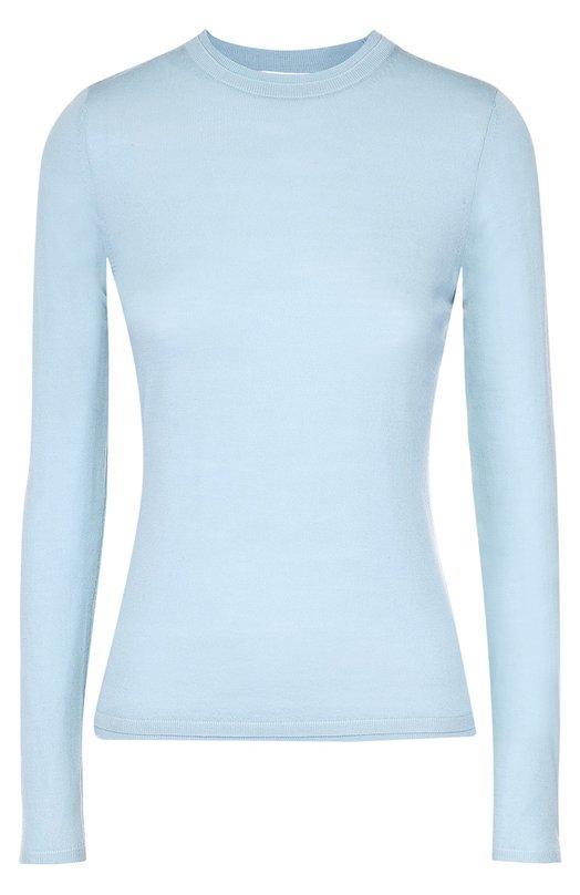 Приталенный пуловер с длинным рукавом и круглым вырезом HUGO 50323560