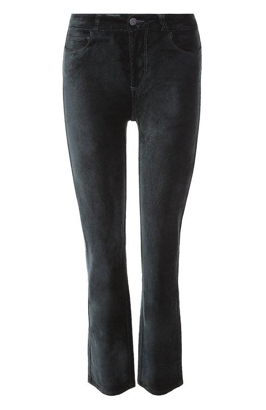 Купить Укороченные бархатные джинсы Paige, 3360A66-3790, Китай, Темно-зеленый, Хлопок: 54%; Вискоза: 44%; Спандекс: 2%;