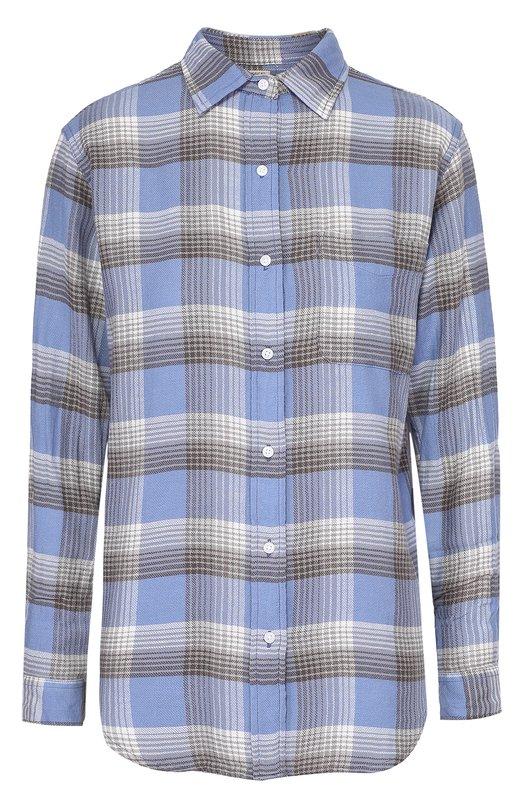 Хлопковая блуза в клетку с накладным карманом Denim&amp;Supply by Ralph LaurenБлузы<br><br><br>Российский размер RU: 42<br>Пол: Женский<br>Возраст: Взрослый<br>Размер производителя vendor: S<br>Материал: Хлопок: 100%;<br>Цвет: Синий
