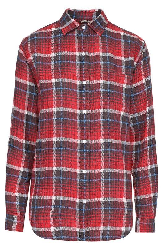 Хлопковая блуза в клетку с накладным карманом Denim&Supply by Ralph Lauren W04/RLRDX/SDLKZ