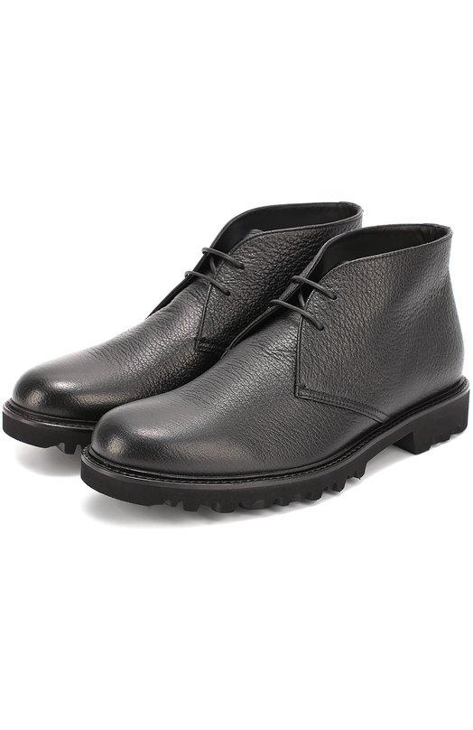 Кожаные ботинки на рифленой подошве Giorgio Armani X2M164/XC956