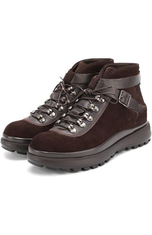 Замшевые ботинки на толстой подошве Giorgio Armani X2M228/XG551