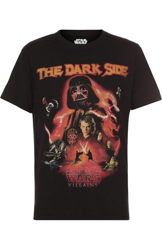 Хлопковая футболка с принтом Star Wars Elevenparis 16F1TS118