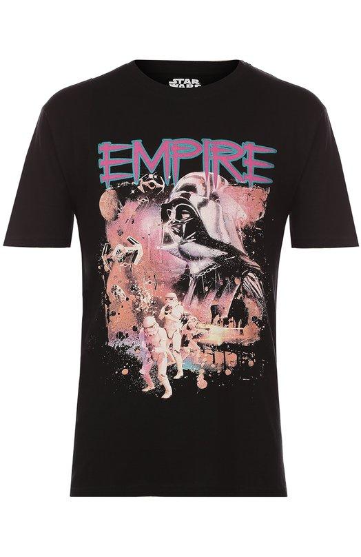Хлопковая футболка с принтом Star Wars ElevenparisФутболки<br><br><br>Российский размер RU: 50<br>Пол: Мужской<br>Возраст: Взрослый<br>Размер производителя vendor: L<br>Материал: Хлопок: 100%;<br>Цвет: Черный