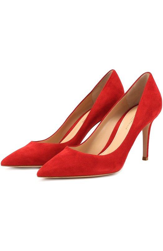 Купить Замшевые туфли Gianvito 85 Gianvito Rossi, G24580.85RIC.CAM, Италия, Красный, Стелька-кожа: 100%; Подошва-кожа: 100%; Замша натуральная: 100%; Подкладка-кожа: 100%; Кожа: 100%; Стелька-кожа: 100%;