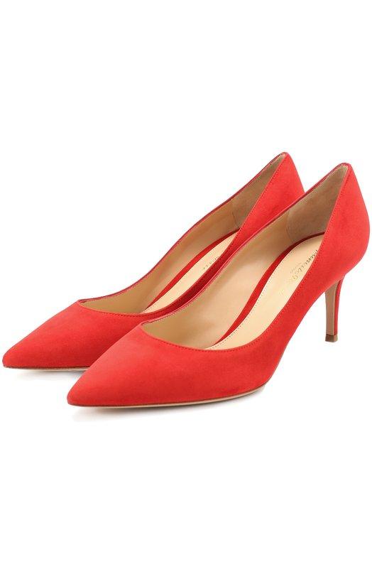Купить Замшевые туфли Classic на шпильке Gianvito Rossi, G26770.70RIC.CAM, Италия, Красный, Стелька-кожа: 100%; Подошва-кожа: 100%; Замша натуральная: 100%;