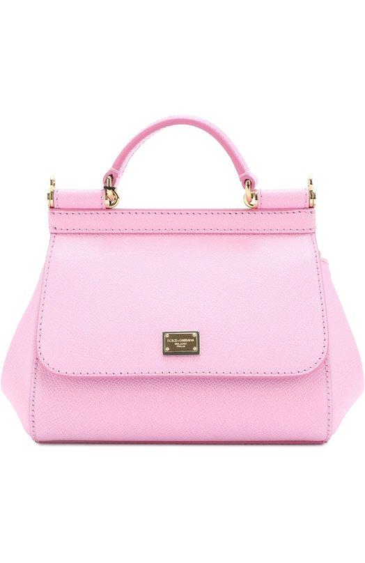 Купить Сумка Sicily micro Dolce & Gabbana, 0116/BB6271/A1001, Италия, Светло-розовый, Кожа натуральная: 100%;