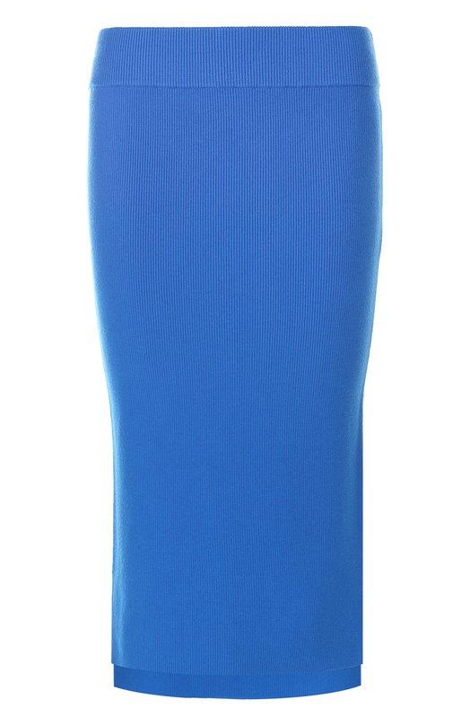 Вязаная юбка-карандаш асимметричного кроя DKNY P4600619XB