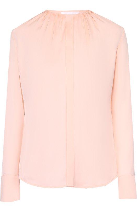 Приталенная блуза с круглым вырезом и защипами HUGO 50270958