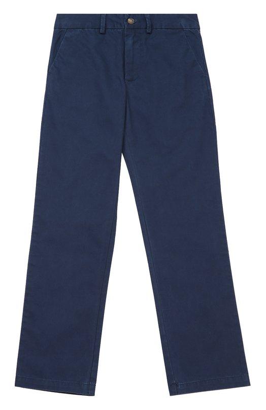 Хлопковые брюки прямого кроя Polo Ralph LaurenБрюки<br><br><br>Размер Years: 10<br>Пол: Мужской<br>Возраст: Детский<br>Размер производителя vendor: 140-146cm<br>Материал: Хлопок: 100%;<br>Цвет: Синий
