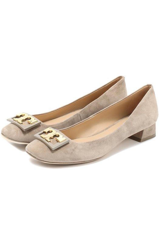 Замшевые туфли с пряжкой на низком каблуке Tory Burch 31434