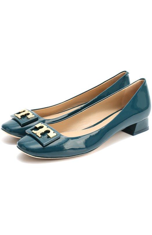 Лаковые туфли с пряжкой на низком каблуке Tory Burch 31435