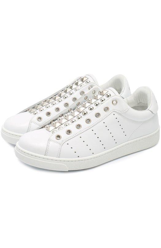 Кожаные кроссовки с заклепками Dsquared2 W16K511/538