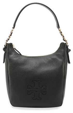 Сумка Harper Zip Hobo Tory Burch чёрная | Фото №1