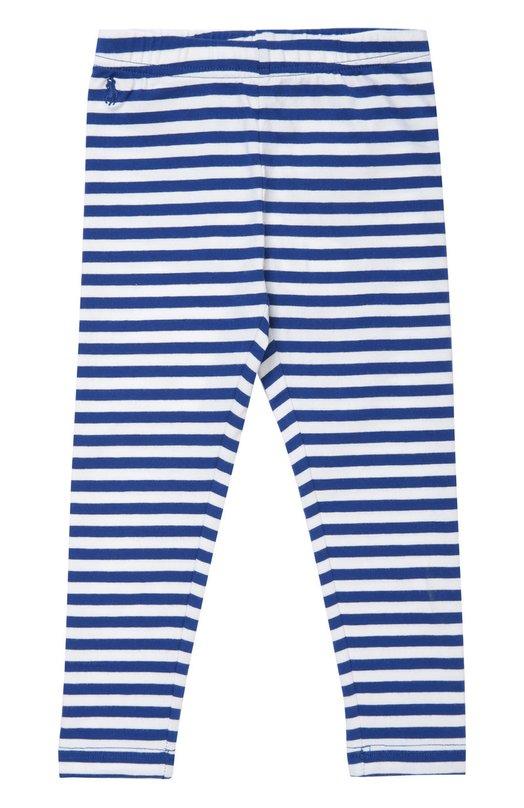 Леггинсы из хлопка с рисунком в полоску Polo Ralph LaurenКолготки и носки<br><br><br>Российский размер RU: 28<br>Пол: Женский<br>Возраст: Детский<br>Размер производителя vendor: 4T<br>Материал: Хлопок: 93%; Эластан: 7%;<br>Цвет: Разноцветный