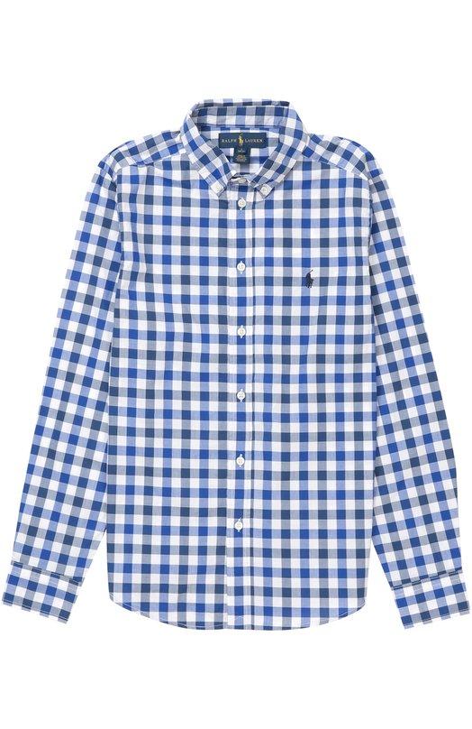 Рубашка из хлопка с рисунком в клетку Polo Ralph Lauren B04/XZ1QH/XY1QH