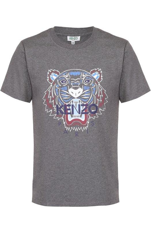 Хлопковая футболка с принтом Kenzo F655TS0504Y3