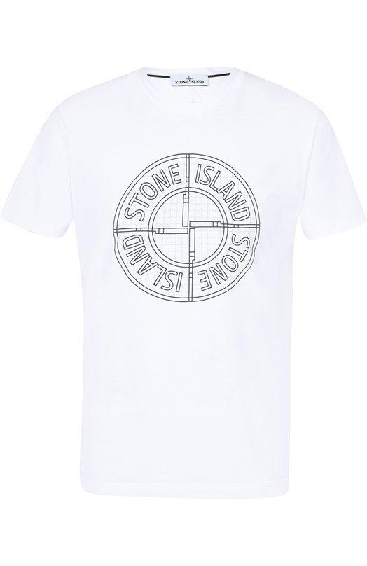 Хлопковая футболка с принтом Stone Island 651520184
