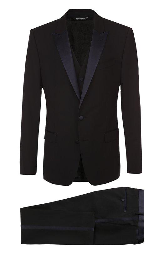 Купить Смокинг-тройка с остроконечными лацканами Dolce & Gabbana Италия 5075797 0101/G13GMT/FUBBG