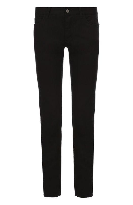 Купить Джинсы прямого кроя с нашивкой на заднем кармане Dolce & Gabbana, 0101/G6XPLZ/G8U04, Италия, Черный, Лиоселл: 60%; Вискоза: 40%;