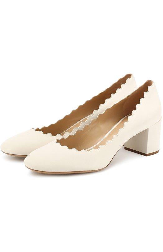 Кожаные туфли Lauren с фигурным вырезом Chloe CH26230/E75