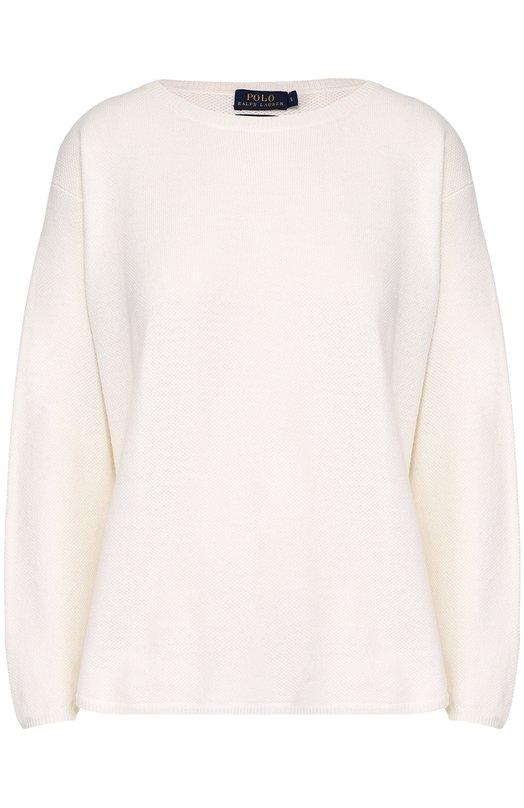 Кашемировый удлиненный пуловер свободного кроя Polo Ralph LaurenСвитеры<br><br><br>Российский размер RU: 50<br>Пол: Женский<br>Возраст: Взрослый<br>Размер производителя vendor: XL<br>Материал: Кашемир: 100%;<br>Цвет: Кремовый