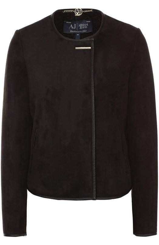 Укороченный жакет прямого кроя с круглым вырезом Armani Jeans 6X5B48/5EEMZ