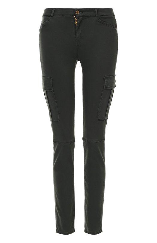 Укороченные джинсы-скинни с накладными карманами 7 For All Mankind SPYQ690SS